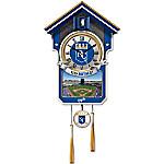 MLB-Licensed Kansas City Royals Cuckoo Clock Featuring Bird With Baseball Cap