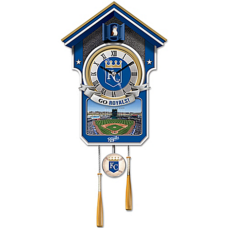 MLB Licensed Kansas City Royals Tribute Wall Clock With Bird In Baseball Cap