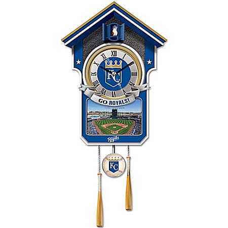 MLB Licensed Kansas City Royals Tribute Wall Clock With Bird In Baseball Cap