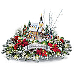 Thomas Kinkade A Holiday Gathering Christmas Tale Centerpiece