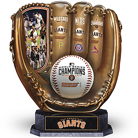 2014 World Series Champions San Francisco Giants Baseball Glove Sculpture