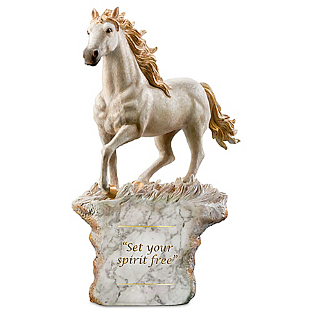 The Spirit Of Freedom Wild Horse Cold-Cast Marble Sculpture