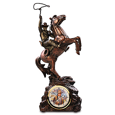 John Wayne Timeless Legend Handcrafted Western-Inspired Clock