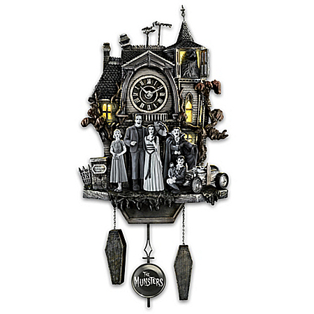 Gothic Hand-Painted Cuckoo Clock - The Munsters