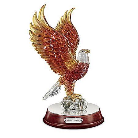 Nature's Majesty Glass Eagle Sculpture