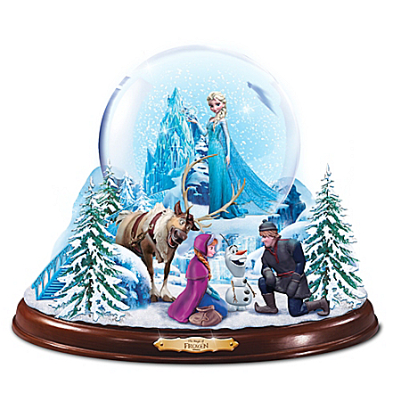 Disney The Magic Of FROZEN Light Up Musical Snowglobe