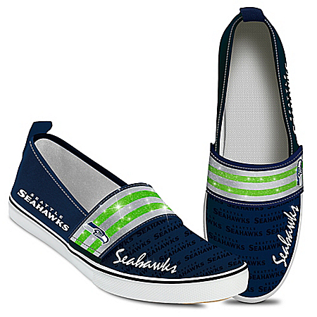 Men's Seattle Seahawks  Brown Flip Flops