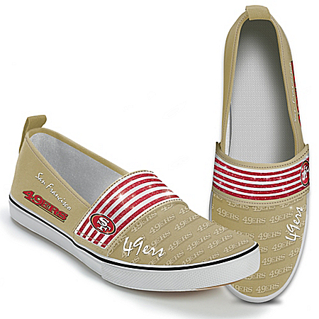 Steppin' Out With Pride San Francisco 49ers Women's Slip-On Shoes