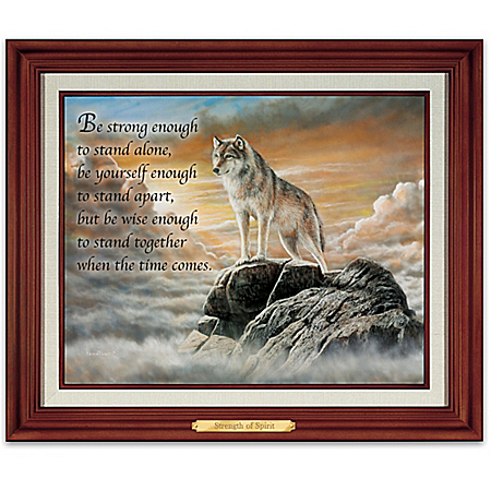Strength Of Spirit Wolf Illuminated Canvas Wall Decor