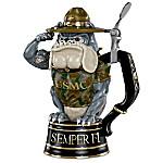 Always Faithful USMC Devil Dog 24-Ounce Drink-Safe Porcelain Stein