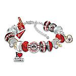 Fashionable Fan Ohio State University Buckeyes Charm Bracelet