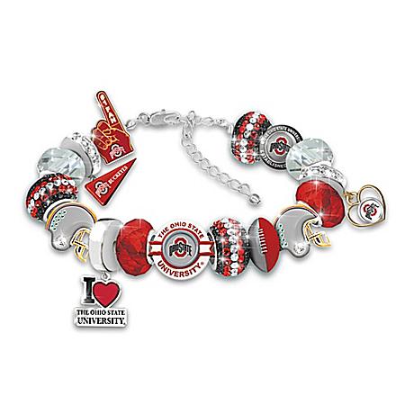 Fashionable Fan Ohio State University Buckeyes Charm Bracelet – National Champions