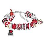Fashionable Fan University Of Alabama Crimson Tide Women's Charm Bracelet