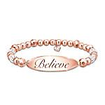 Copper Healing Believe Women's Stretch Beaded Bracelet