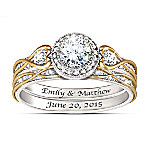 Endless Love Women's Personalized Bridal Wedding Ring Set