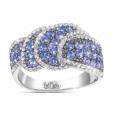 Bob Mackie Tantalizing Tanzanite Diamonesk Fashion Ring