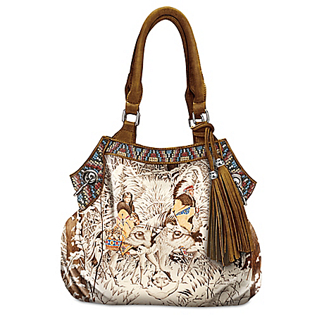 Diana Casey Mystic Wolf Native American-Inspired Women's Handbag
