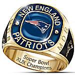 New England Patriots Super Bowl XLIX Champions Personalized Men's Ring
