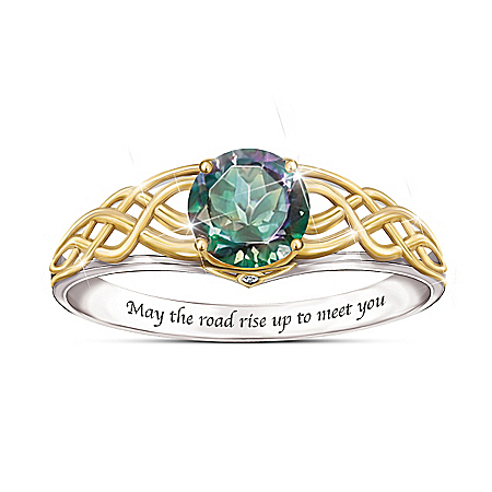 For The Love Of Ireland Mystic Topaz Ring