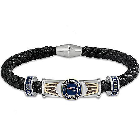 New England Patriots Super Bowl XLIX Champions Men's Bracelet