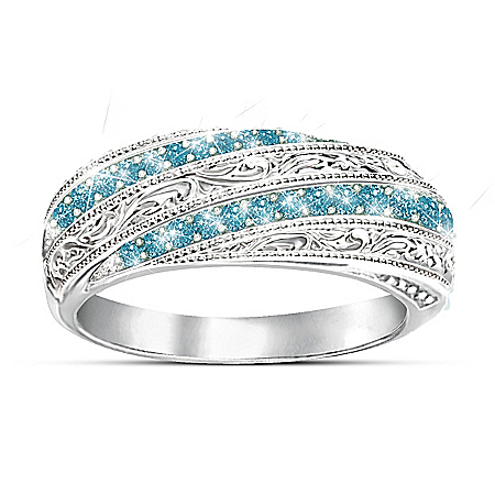Topaz Elegance Sterling Silver Ring