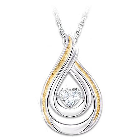 Brilliant Motions Heartfelt Moments Diamond Heart Pendant Daughter Necklace