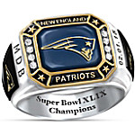 New England Patriots Super Bowl XLIX Champions Patriots Pride Personalized Men's Ring
