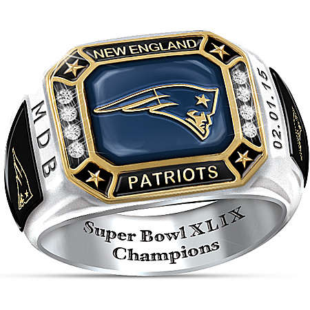 New England Patriots Super Bowl XLIX Champions Patriots Pride Personalized Men's Ring – Personalized Jewelry
