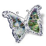 Thomas Kinkade Faith Crystalline Butterfly Sculpture