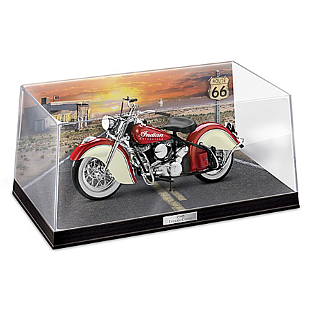 1948 Indian Chief 1:20 Scaled Replica Motorcycle Sculpture With Logos