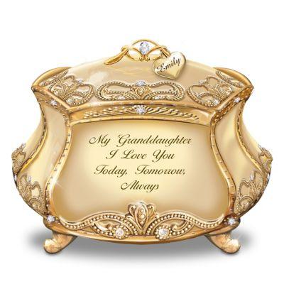 Bradford Exchange Granddaughter, I Love You Personalized Heirloom Porcelain