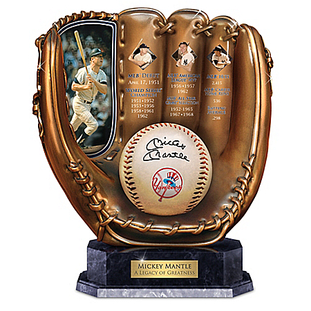 Mickey Mantle: A Legacy Of Greatness Baseball Glove Sculpture