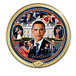 An American Milestone: Barack And Michelle Obama Collector Plate