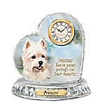 Westie Crystal Heart Personalized Decorative Dog Clock