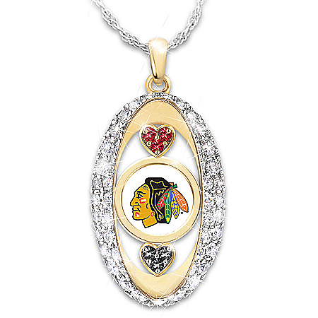 For The Love Of The Game Chicago Blackhawks® Pendant Necklace