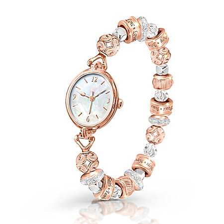 Nature's Healing Moments Women's Copper Stretch Watch