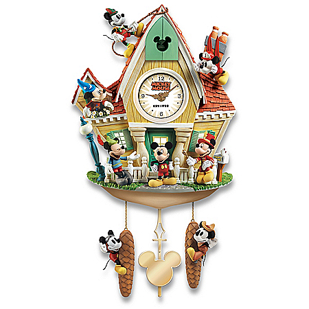 Disney Mickey Mouse Through The Years Illuminated Cuckoo Clock