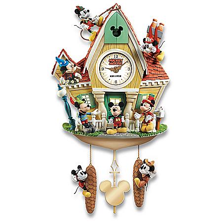 Disney Mickey Mouse Through The Years Illuminated Cuckoo Clock