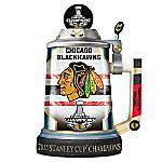 2015 Stanley Cup Champions Chicago Blackhawks Championship Stein