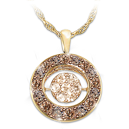 Indulgence Champagne And Mocha Diamond Pendant Necklace