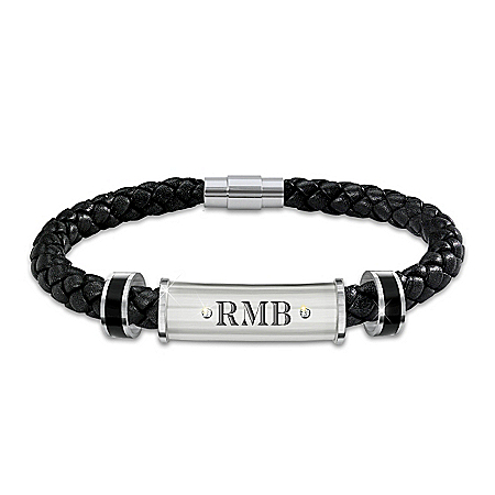 My Son, My Pride, My Joy Personalized Leather And Stainless Steel Bracelet – Graduation Gift Ideas