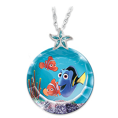 Disney Finding Nemo Just Keep Swimming! Dory Pendant Necklace