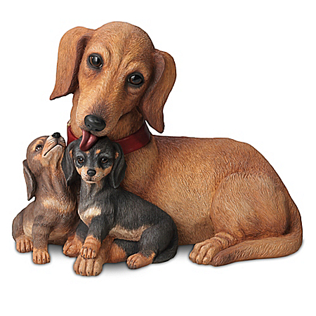 Dachshund Kisses Lifelike Dog Sculpture