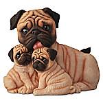 Pug Kisses Lifelike Dog Sculpture