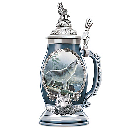 Noble Guardian Porcelain Stein With Platinum Accents