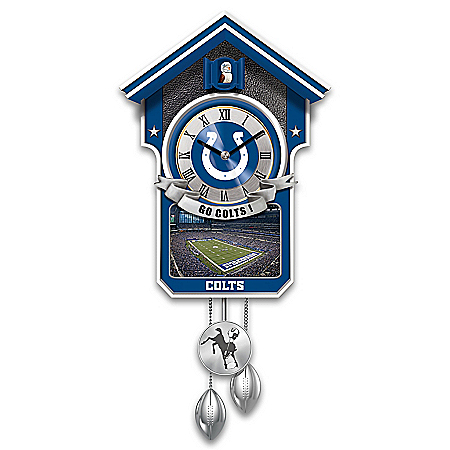 NFL-Licensed Indianapolis Colts Football Wall Cuckoo Clock