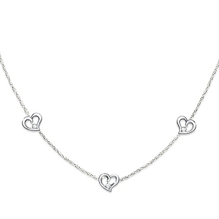 Today, Tomorrow, Always Sterling Silver Diamond Necklace