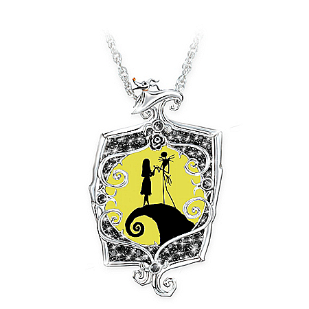 Disney Tim Burton's The Nightmare Before Christmas Glowing Love Pendant Necklace
