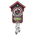 NFL-Licensed Arizona Cardinals Wall Cuckoo Clock Featuring Bird With Football Helmet