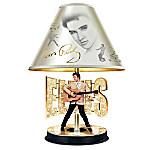 Elvis Presley The King Of Rock 'N' Roll - Golden Legend Tabletop Lamp